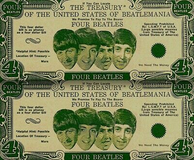 Beatles_1964_Vintage_Money_Four_Dollar_Bill_Paul