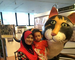 Kuching, Sarawak: A clowder of cats, and then some