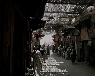 Marrakech, Morocco: When night comes falling