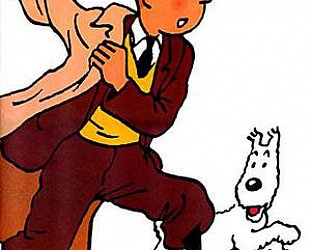 THE WORLD OF TINTIN. The timeless boy