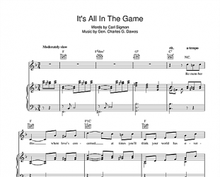 IT'S ALL IN THE GAME, CONSIDERED (2021): The singers and the song