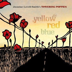 Jasmine Lovell-Smith's Towering Poppies: Yellow Red Blue (Paint Box)