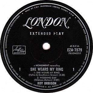 Roy Orbison: She Wears My Ring ( 1962)
