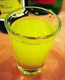 Sue's homemade limoncello