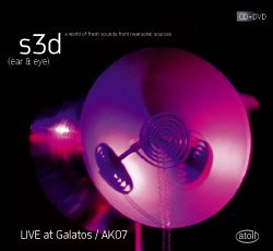 Various Artists: s3d (ear and eye) Atoll CD/DVD
